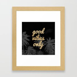 Good Vibes Only Palm Trees Framed Art Print
