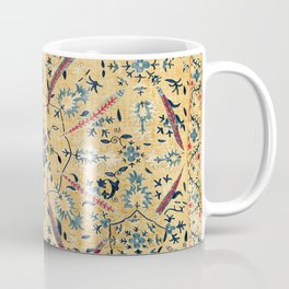 Kermina  Suzani  Antique Uzbekistan Embroidery Print Coffee Mug