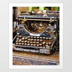 Vintage Rusty Typewriter Art Print