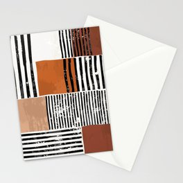 Abstract shapes geometry contemporary aesthetic boho mid century modern art Scandinavian nordic design style Stationery Cards