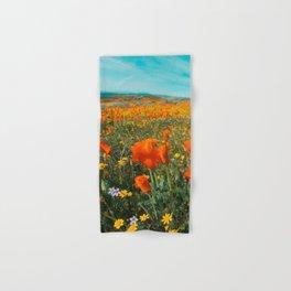 California Wildflower Poppy Superbloom Hand & Bath Towel