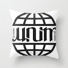 Unity Ambigram for Boston Throw Pillow