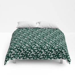 Green Floral Comforters