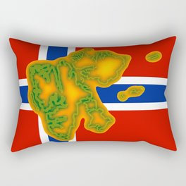 Svalbard Norway Flag with Map Rectangular Pillow
