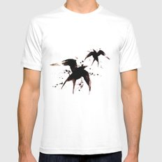 On your fears,  ... swallow them.   Mens Fitted Tee White MEDIUM