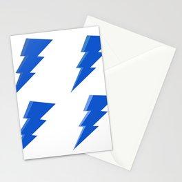 Blue Lightning Bolt Set  Stationery Cards