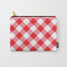 Gingham - Red Carry-All Pouch