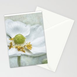 Anemone with Textured Background Stationery Cards