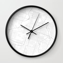 Savannah, United States Minimalist Map Wall Clock