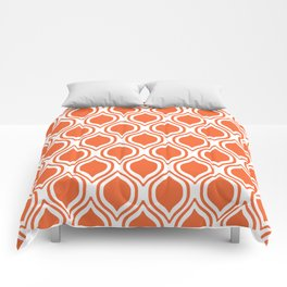 University sports clemson purple and white ogee pattern minimal college football fan Comforters