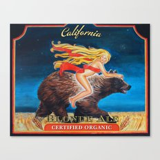 Ride Naked California Blonde Ale  Canvas Print