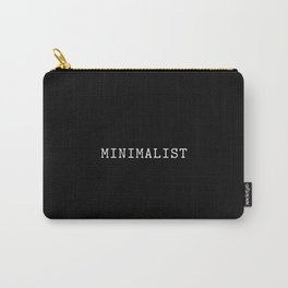 Black and White Minimalist Typewriter Font Carry-All Pouch