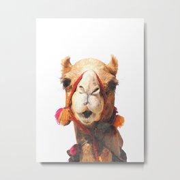 Camel Portrait Metal Print