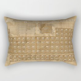 periodic table of elements Rectangular Pillow