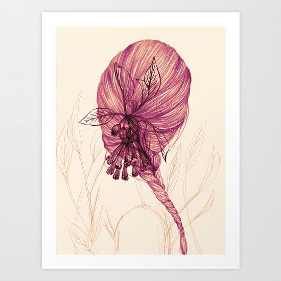 Hair Plant Art Print