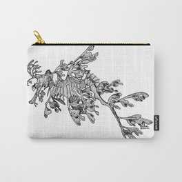 Leafy Sea Dragon Black and White Carry-All Pouch
