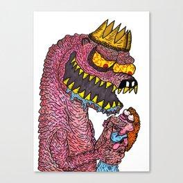 Naked Mole-King Canvas Print