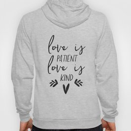 Framed Wood Sign -Love is Patient, rustic home decor, gallery wall, housewarming gift, framed decor Hoody