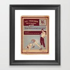 Dirty Dog Framed Art Print