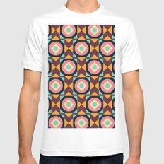 Geometric#31 MEDIUM White Mens Fitted Tee