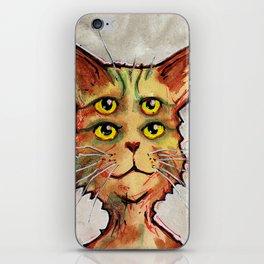 Four Eyed Cat iPhone Skin