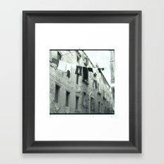 Venezia black&white Framed Art Print