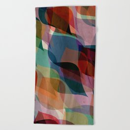 if you leaf me now Beach Towel