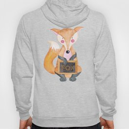 The little Fox - Woodland Friends - Watercolor Illustration Hoody