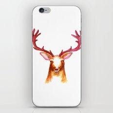 Deer Watercolor Print iPhone & iPod Skin