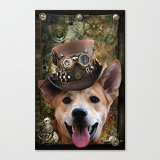 Foxy steampunk Canvas Print
