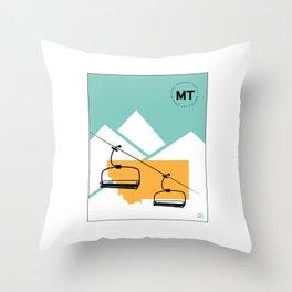 Skiing in Montana Throw Pillow