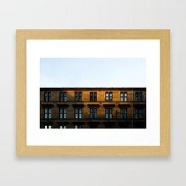 Surface Tension: Dumbarton Road, Glasgow Framed Art Print
