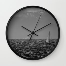 Stormy Seas - Rough water near Victoria, BC Wall Clock