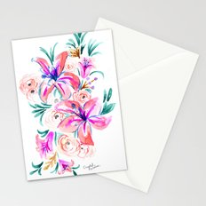 Summer Lily Floral Stationery Cards