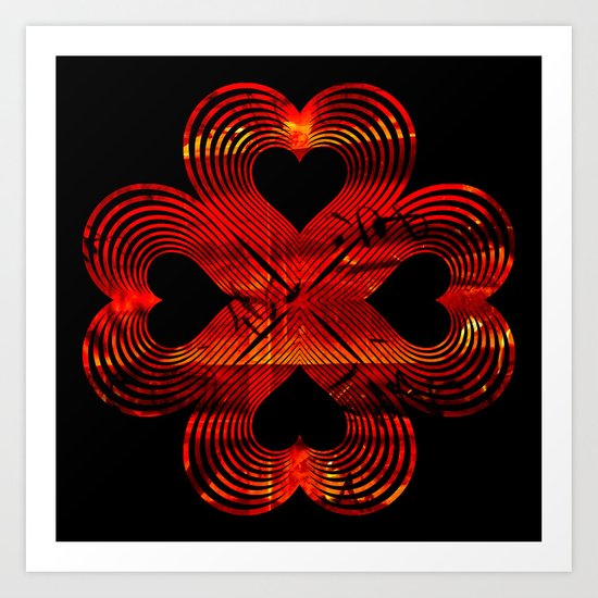 Valentines - Lucky in Love Art Print