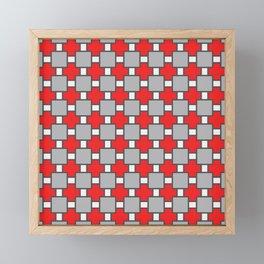 Vinho Tinto Red Square Portuguese Azulejo Tile Pattern Framed Mini Art Print