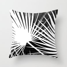Desaturated Palm Throw Pillow