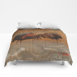 Jäger und Sammer - Frankreich Hölenzeichnung   (A7 B0179) Comforters