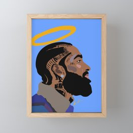 Nipsey Hussle (Rest in Peace) Framed Mini Art Print