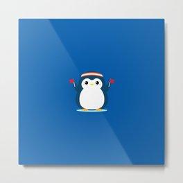 Penguin Cheer Metal Print