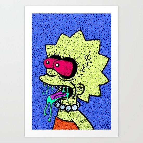 LISA GRIMMSON. (THE GRIMMSONS). Art Print