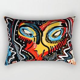 Art as a will to live Graffiti Street Art Rectangular Pillow