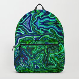 Abstract #1 - IV - Neon Jungle Greens Backpack