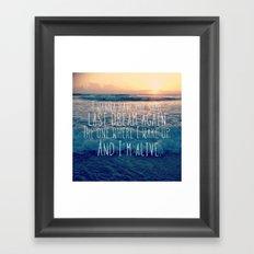 Favorite Sunrise Inspiration Framed Art Print