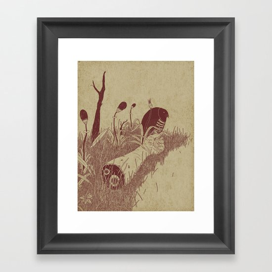 Helvete Forest Framed Art Print