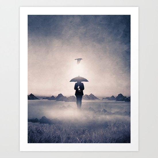 Waiting for the rain (colour option) Art Print