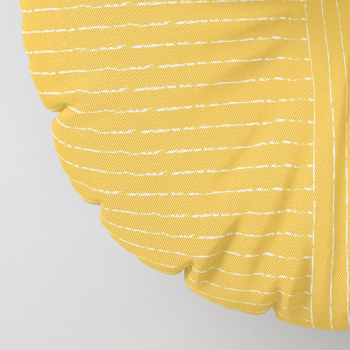 Lines / Yellow Floor Pillow