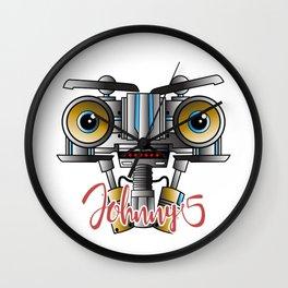 Johnny 5 Short Circuit Wall Clock
