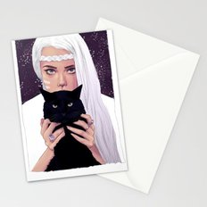 She had Stars in her Eyes Stationery Cards