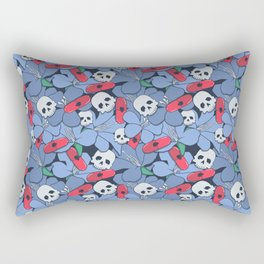 Death Rising from the Ground Rectangular Pillow